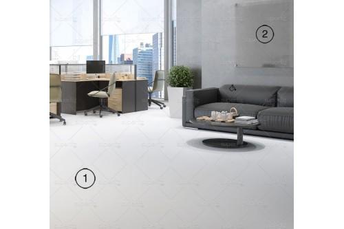 mockup espaço comercial chão