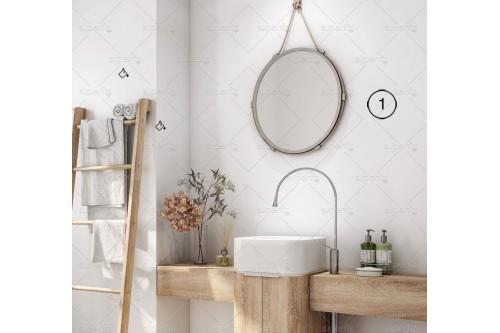 mockup baño pared