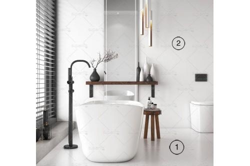 mockup de banheiro chão e parede
