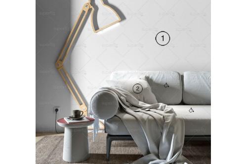 wall mockup livingroom
