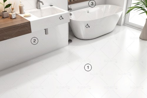bathroom mockup blank wall and floor