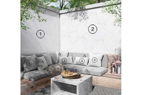 outdoor mockup blank wall