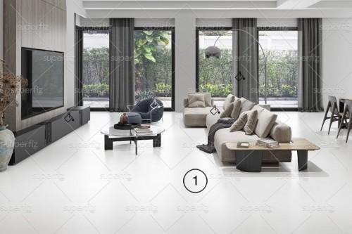 mockup sala de estar chão