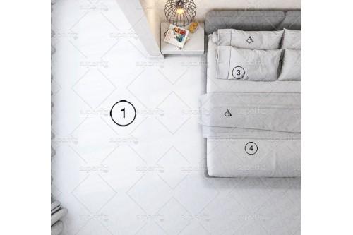 mockup de suelo de dormitorio