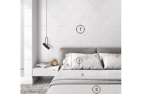 mockup de quarto com parede branca