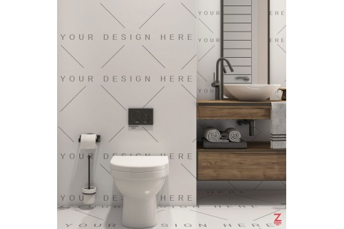 Bathroom Mockup Floor Wall