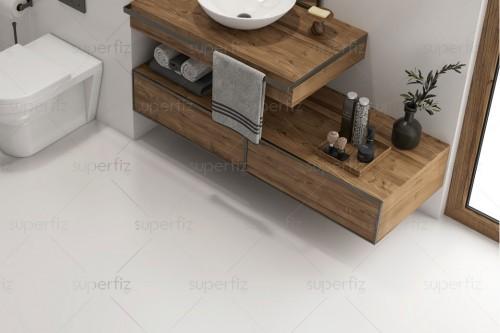 Mockup Bathroom Floor Wall